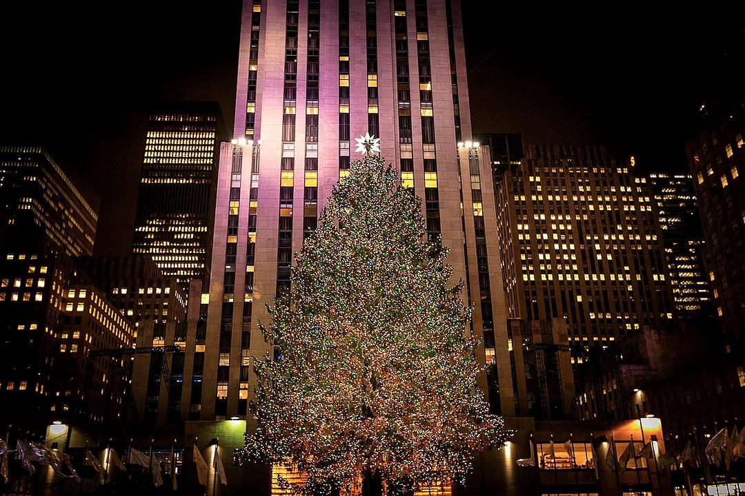 Rockefeller Center in Ney York mit Weihnachtsbaum