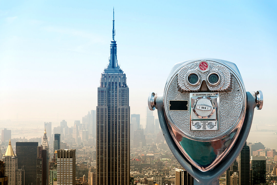 Blick auf die Skyline von New York