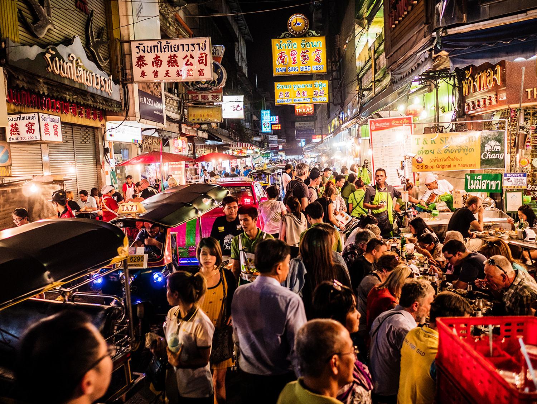 Night Scene Chinatown Bangkok Market
