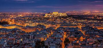 Athen - Panorama am Abend