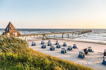 Strandkörbe im Norden Deutschlands