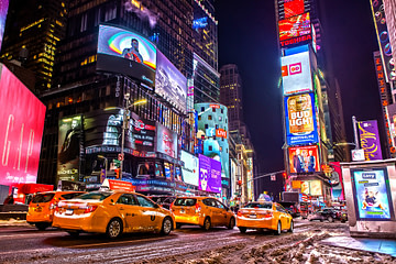 Times Square mit Gelben Taxis