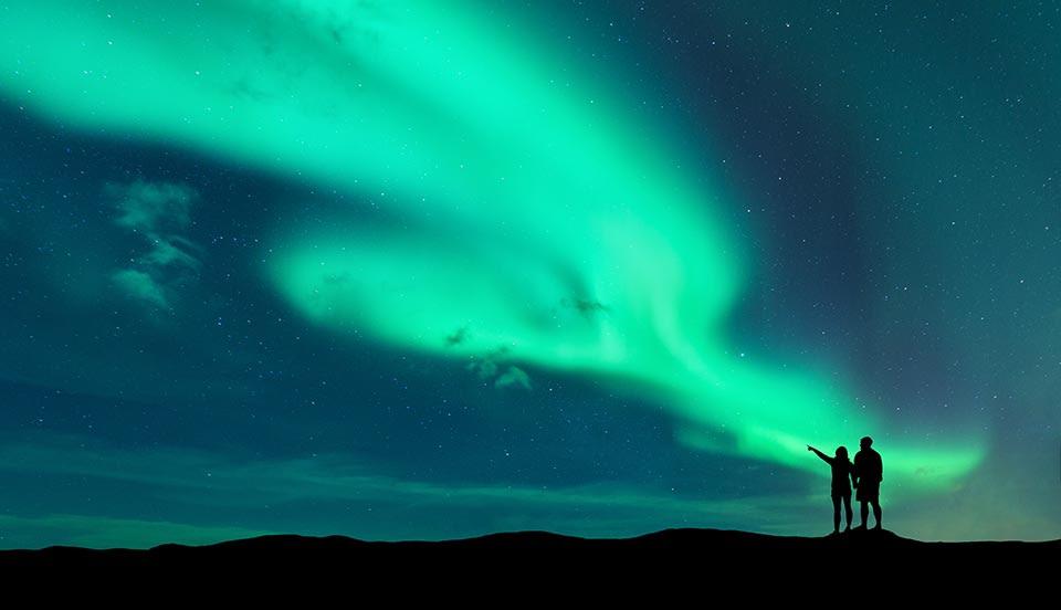 Polarlichter in Grönland