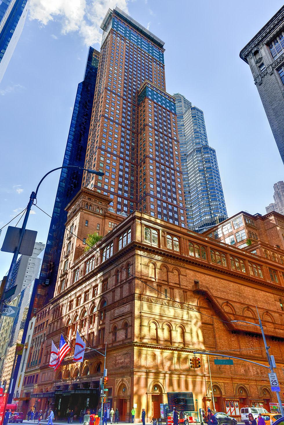 Blick auf die Carnegie Hall in New York
