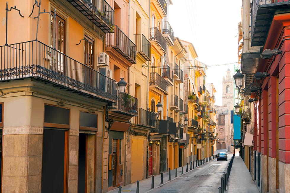 Bolseria Street Barrio del Carmen in Valencia