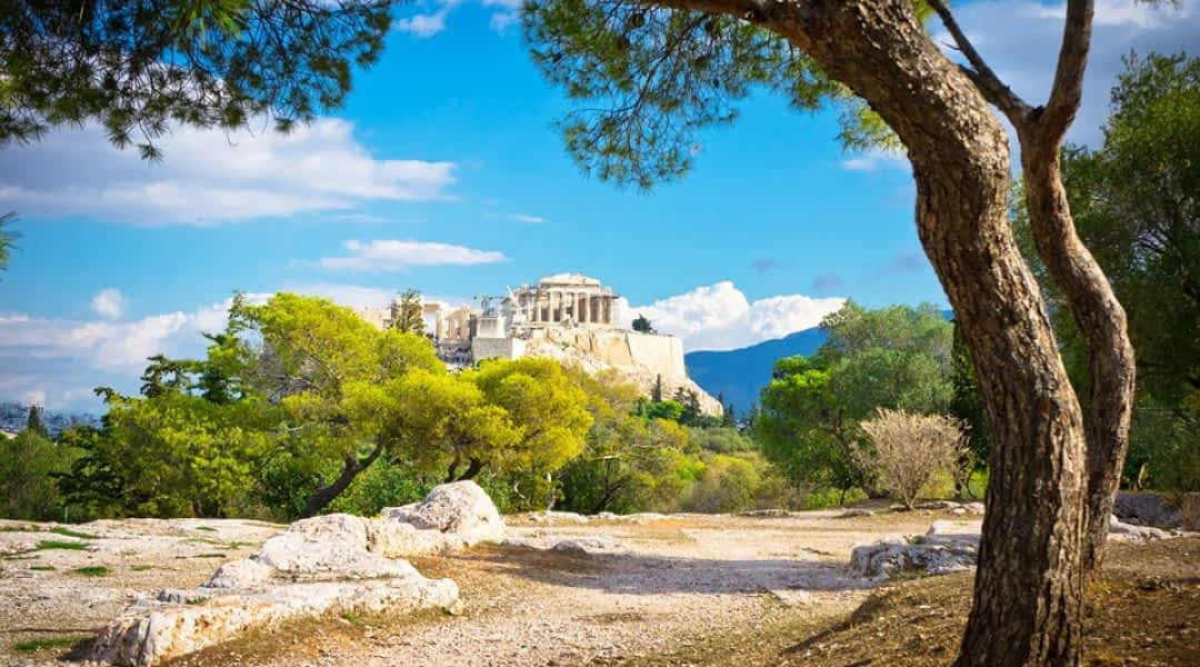 Weg zur Akropolis