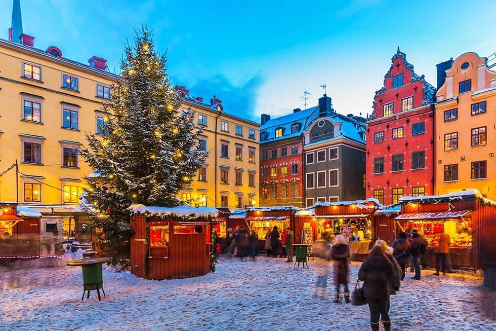 Gamla Stan Weihnachtsmarkt Stockholm