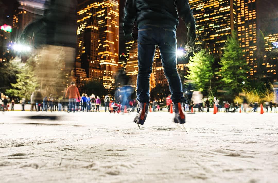 Schlittschuh laufen in New York