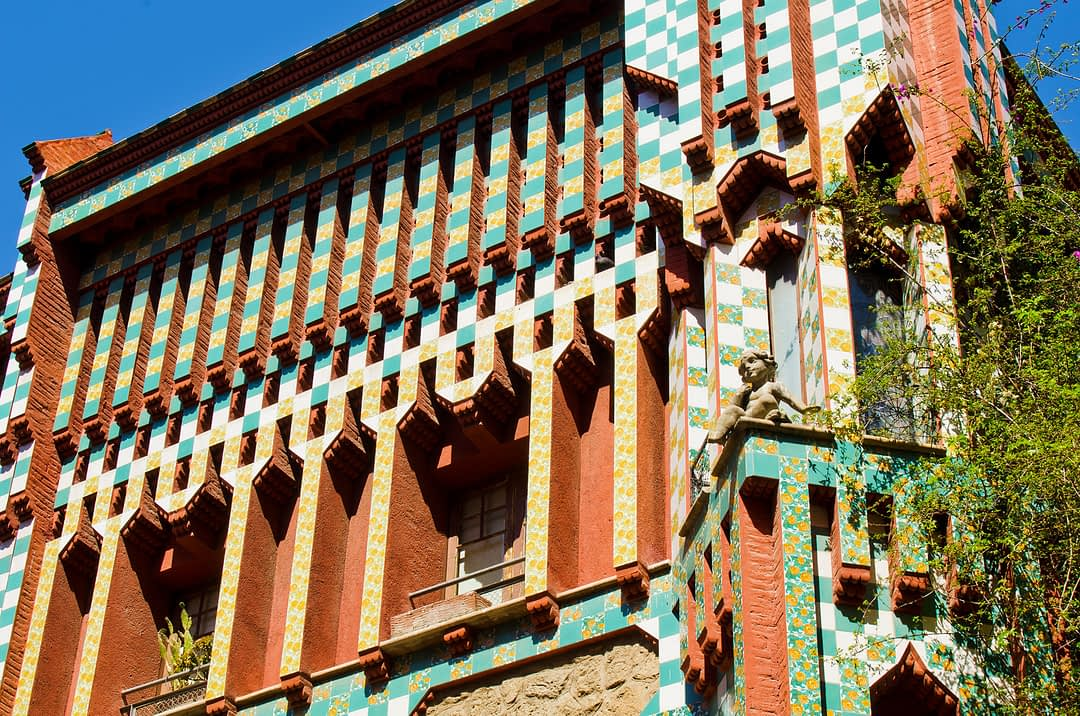 Außenansicht der Casa Vicens in Barcelona
