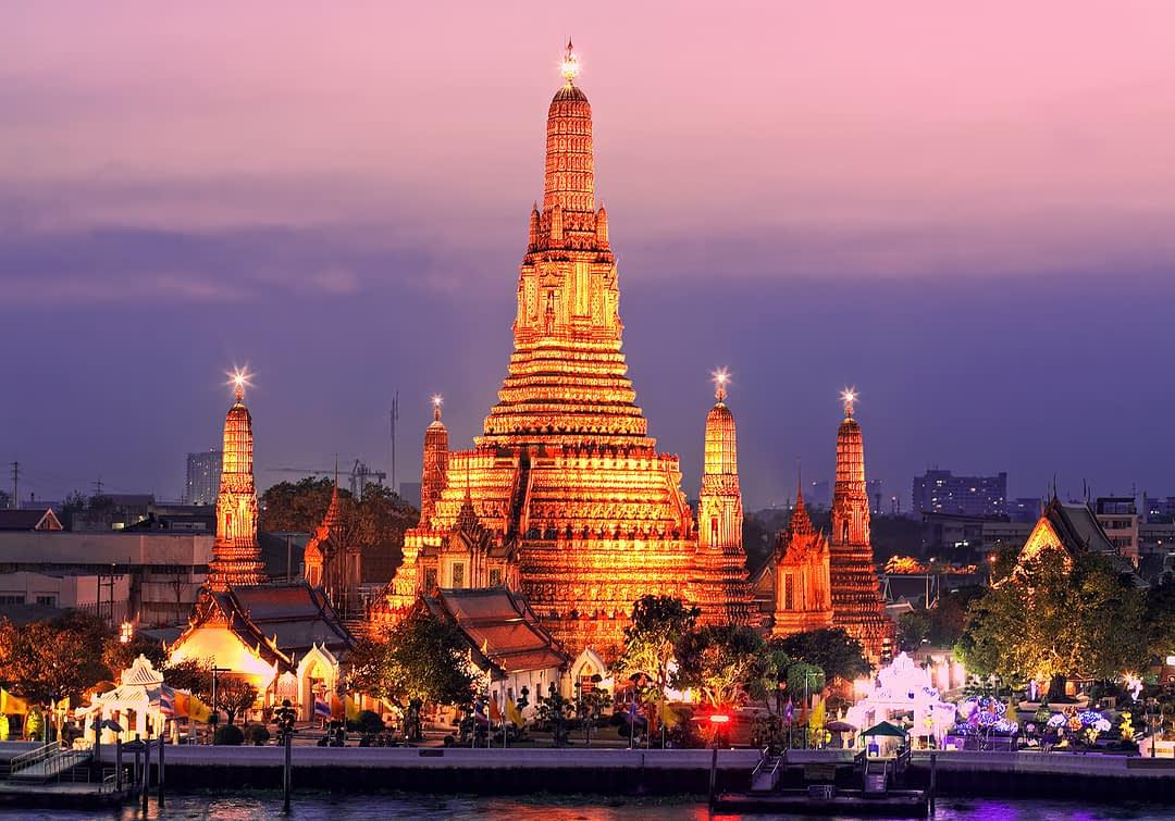 Wat Arun, berühmtester Tempel in Bangkok