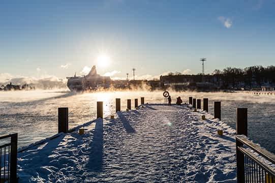 Finnland_Helsinki_Kalt_Schnee