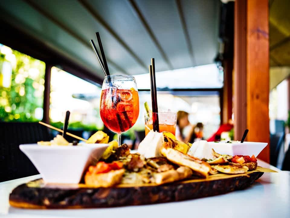 Snacks und Trinks Italien