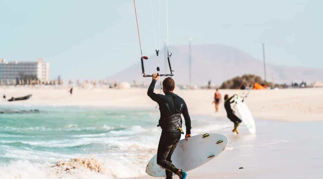 Kitesurfen auf Fuerteventura - perfekte Bedingungen!