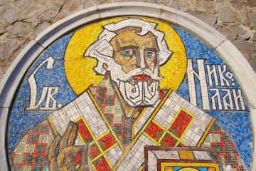 Sankt Nikolaus Mosaik am Hafen