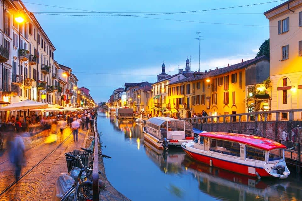 Naviglio Mailand Boot