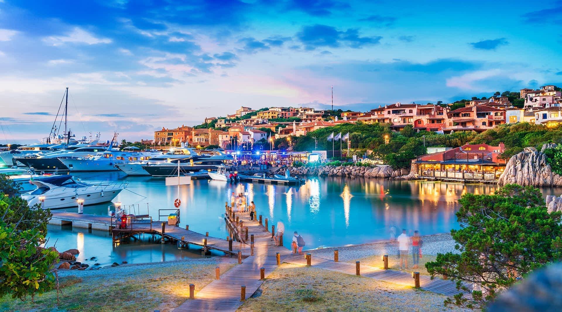 Blick auf den Hafen von Porto Cervo