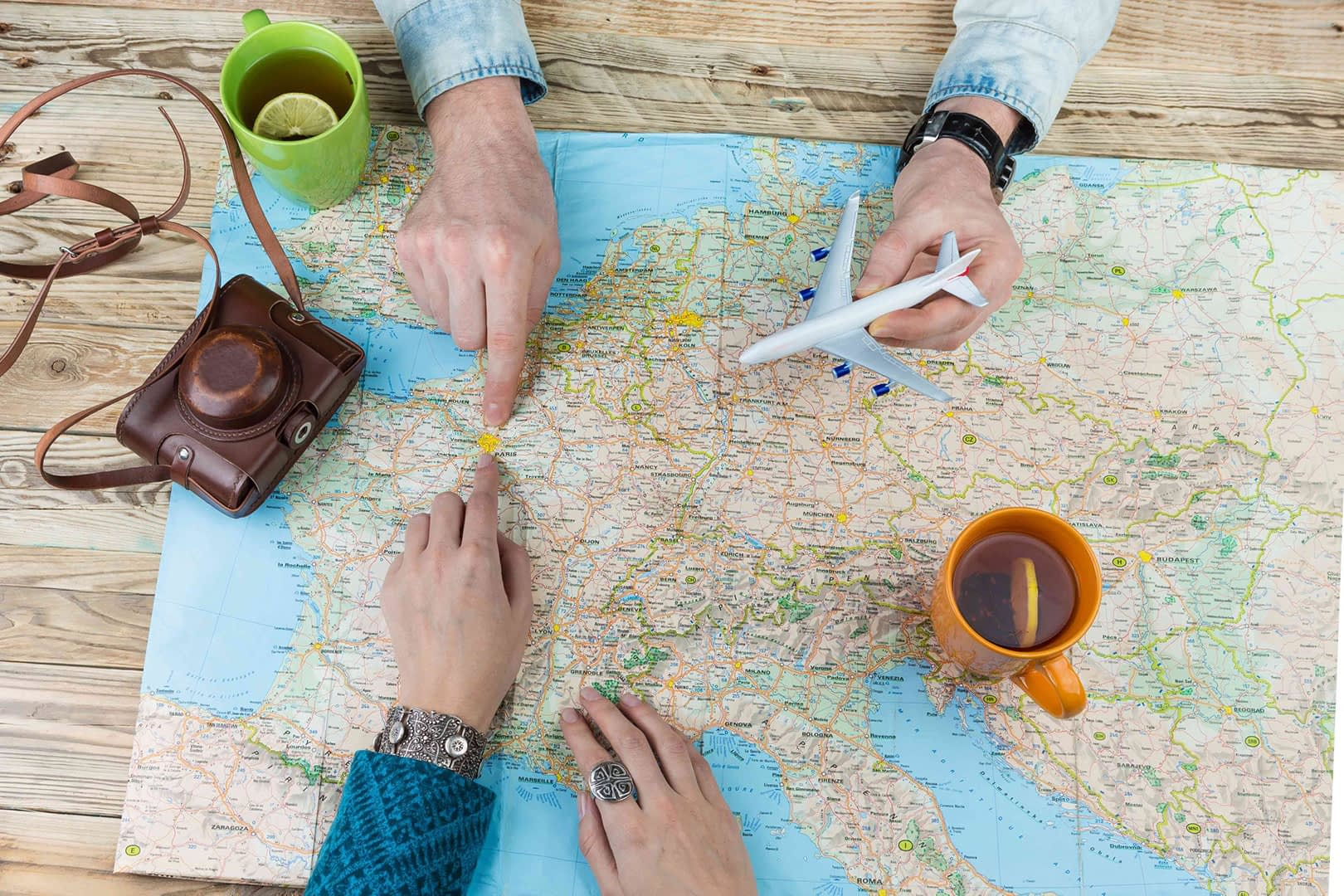 Reiseplanung Karte