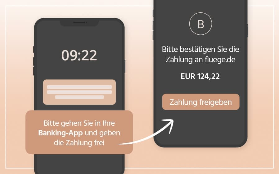 Zahlung via Banking-App