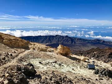 Ausblick vom Teide in Teneriffa